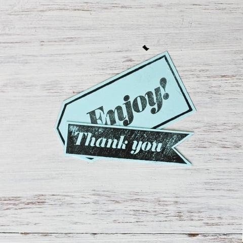 Image of 'Enjoy' Wooden Stamp