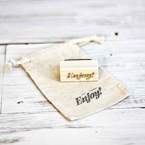Image of Mini ENJOY Wooden Stamp