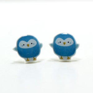 Image of Blue Budgie Earrings