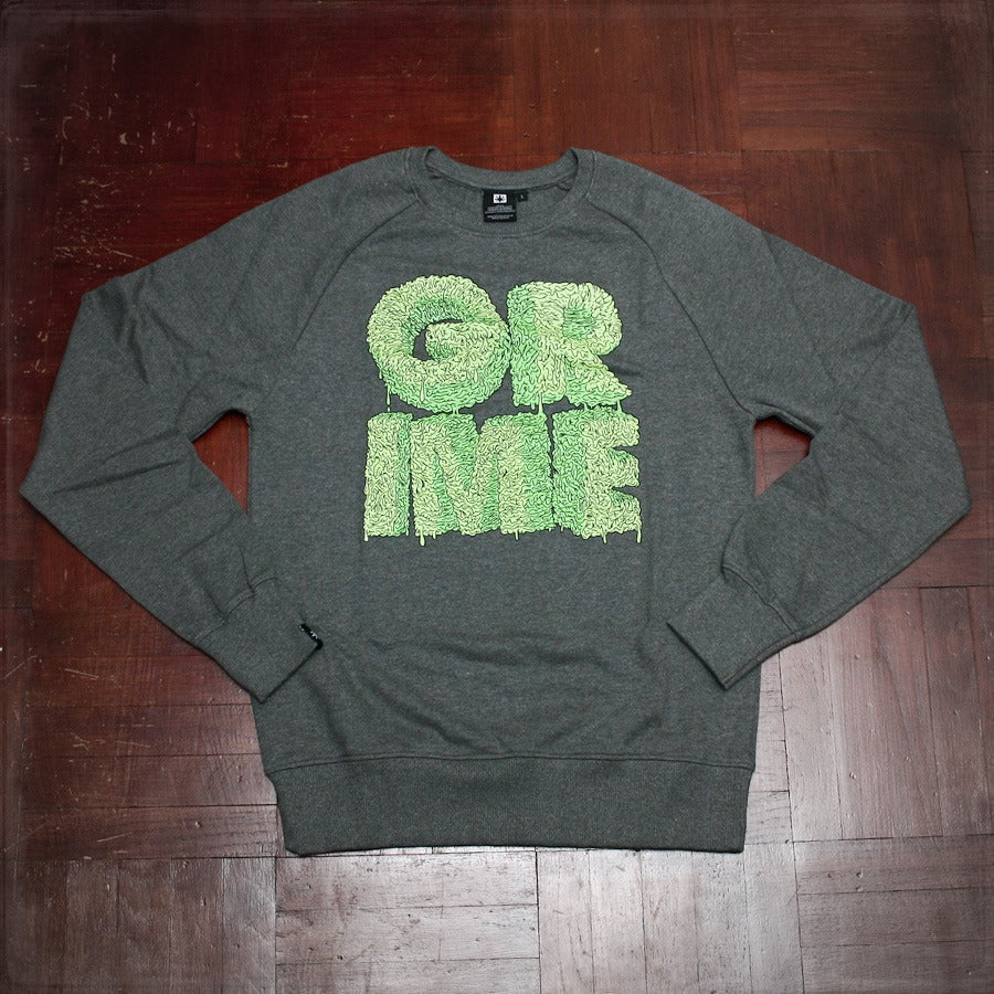 Image of Grime Scene Sweat - Grey / Green