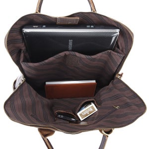 "Image of Handmade Genuine Leather Briefcase Tote Handbag Messenger 14"" Laptop / 15"" Macbook Pro Bag (n68)"