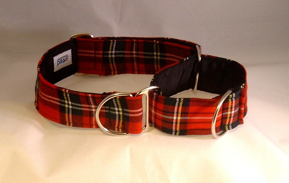 Scottish Tartan Martingale Collar