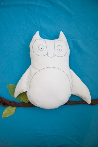 "Image of Owl ""Blank Canvas"" Softie"