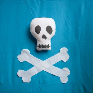 "Image of Mini Skull ""Blank Canvas"" Softie"