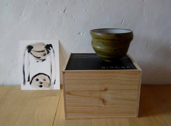 Image of ceramic bowl cinc & drawing