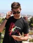 Image of Men's Black SF Dinosaur Tee