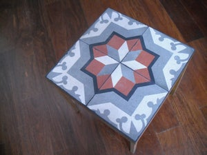 Image of Terracotta star end table