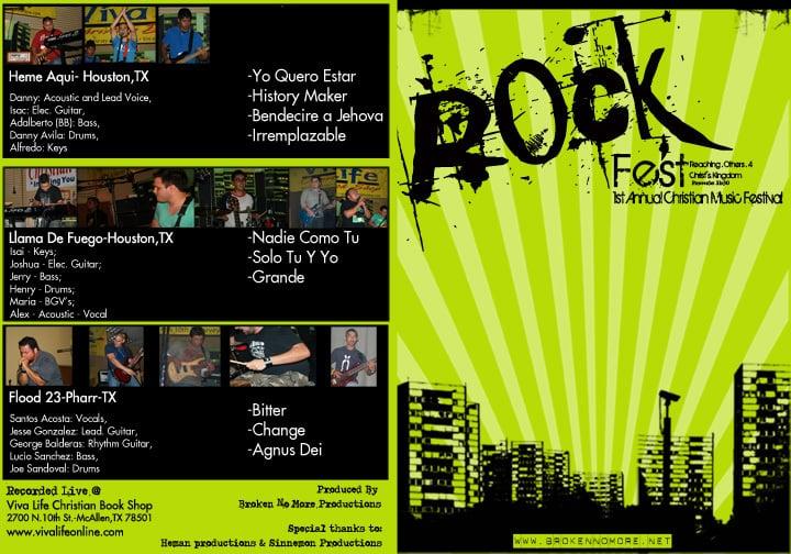 RockFest 08 DVD (Live@ Viva Life Bookstore)