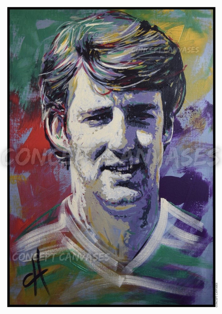 Image of Tommy Burns 'More Than A Player' A3 Print