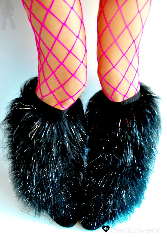 Image of Glitter fluffies black