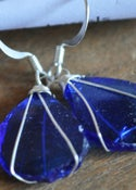Image of Glass earrings (blue)