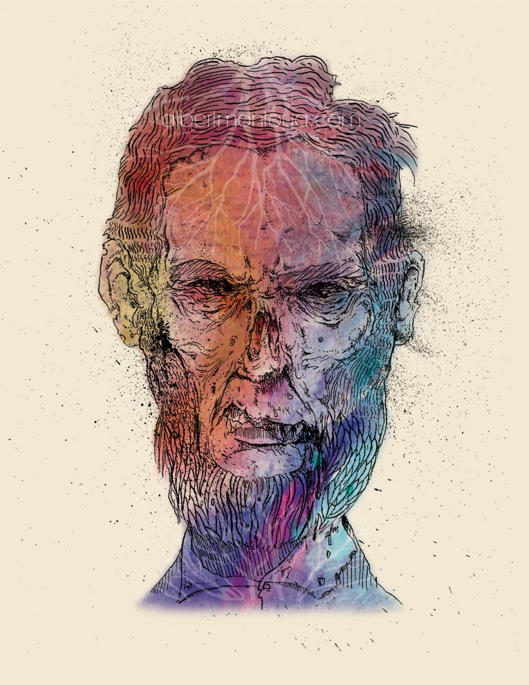 Image of Zombie Lincoln Print