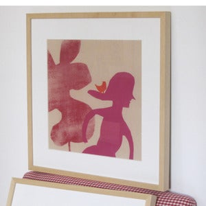 Image of Mr Man and Mme woman spring walk prints
