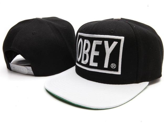 74c212f5a8d8e7 Urban Attire — OBEY Block Snapback Black/White