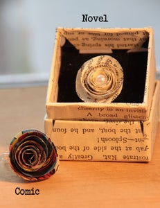 Image of Paper Rose Rings