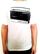 Image of RADIO SLAPS T-SHIRT  WHITE WOMEN/MEN