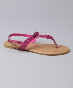 Image of Ankle Strap Glitter Sandals