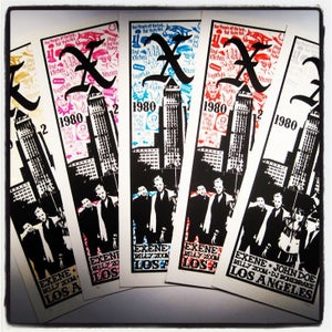 """Image of X """"1980-2010"""" gig poster. Celebrating 30 years of the Los Angeles album"""