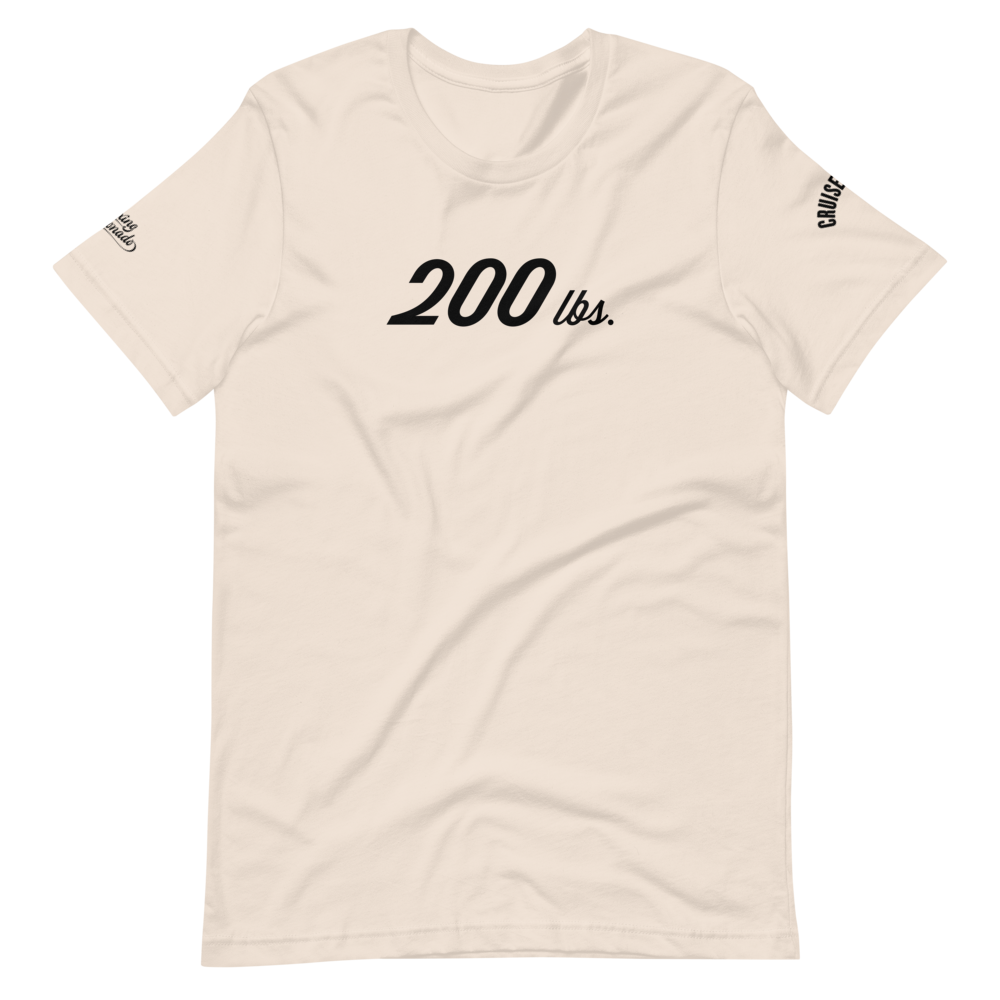 200 lbs | Cruiserweight T-Shirt (3 Colors)