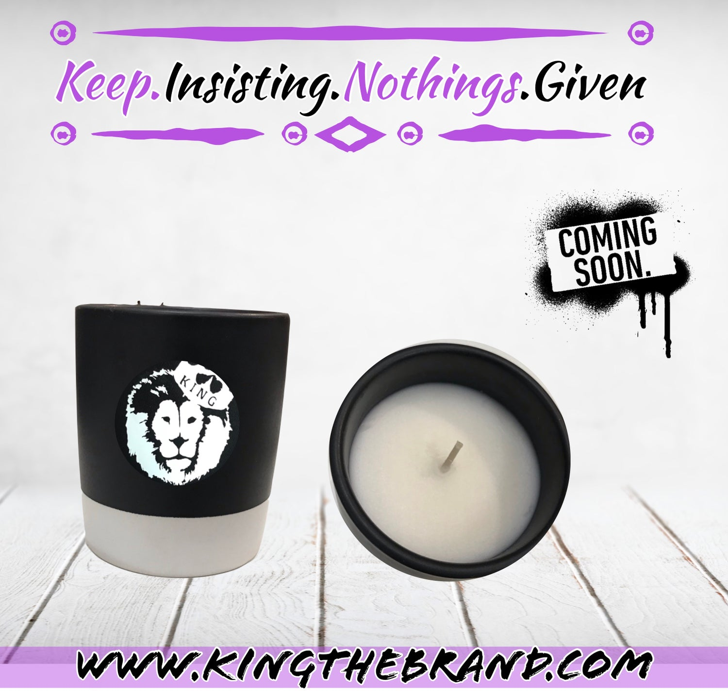 Image of K.I.N.G Candle