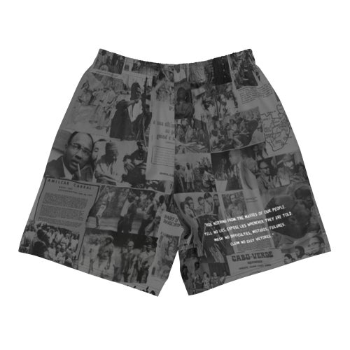 Image of The Rebel Daily News Black Athletic Shorts