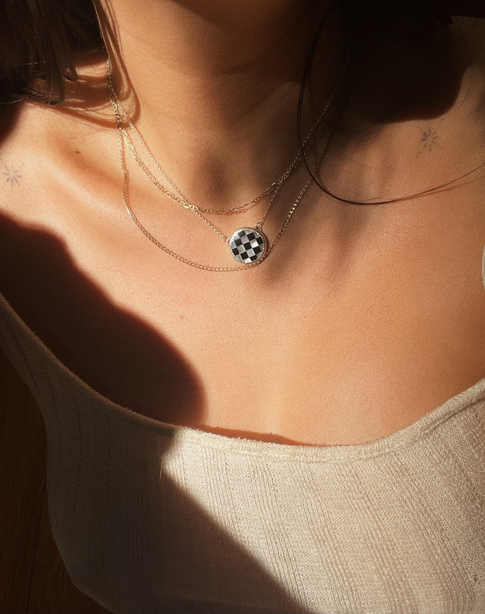 Image of Checkered Necklace
