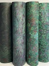 Marbled Paper Overmarble on Black & Racing Green - 1/2 sheets