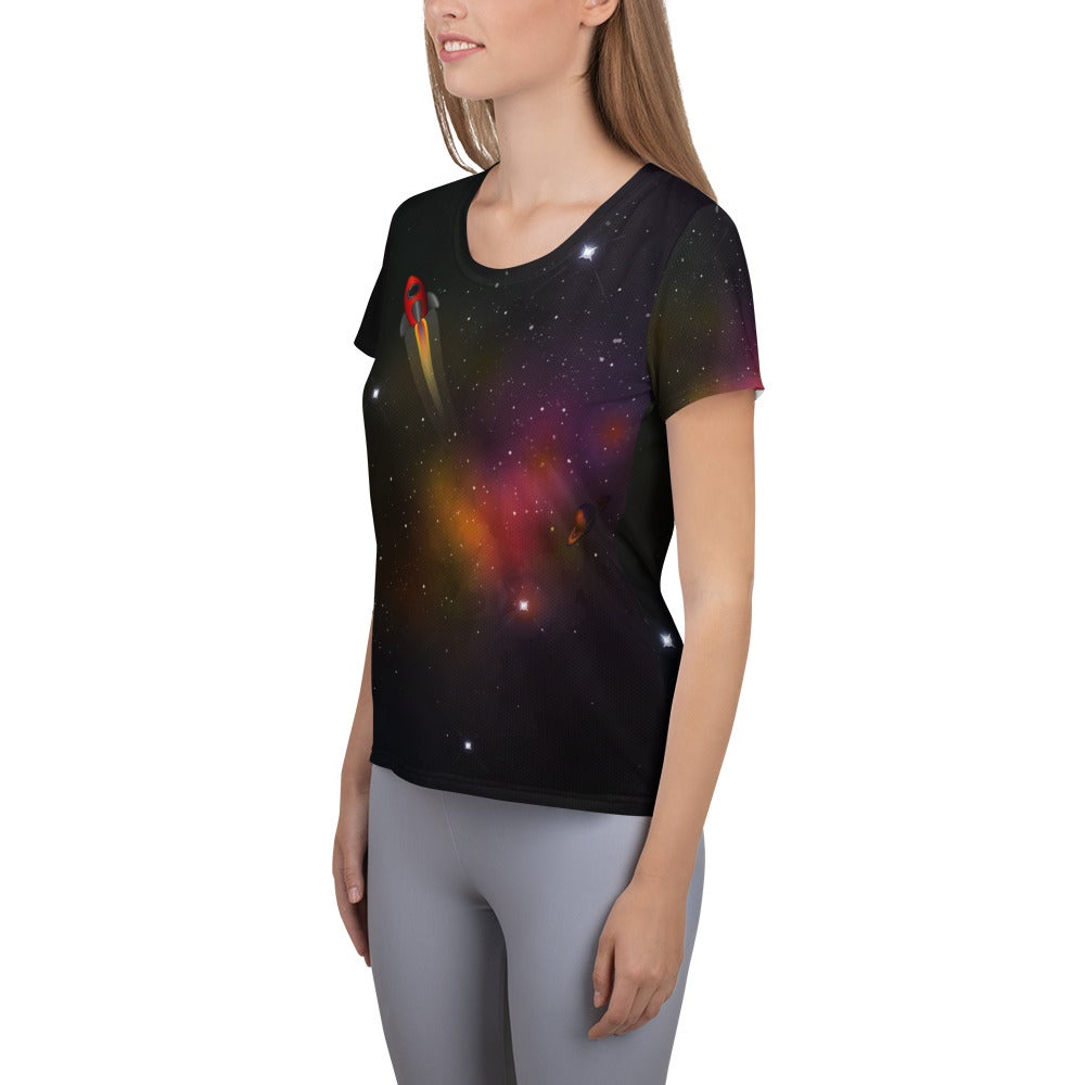 Image of Space Race Fitted Athletic T-shirt