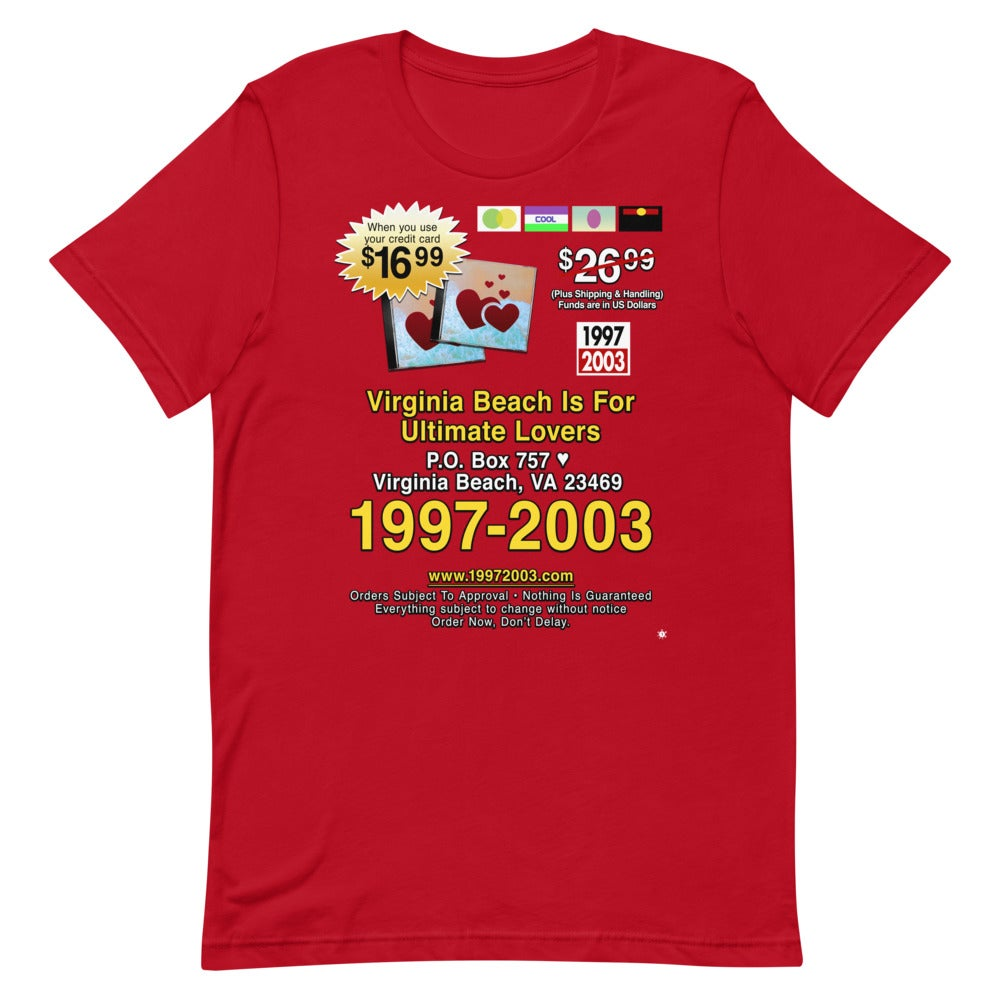 19972003 - VIRGINIA BEACH IS FOR ULTIMATE LOVERS - T-SHIRT