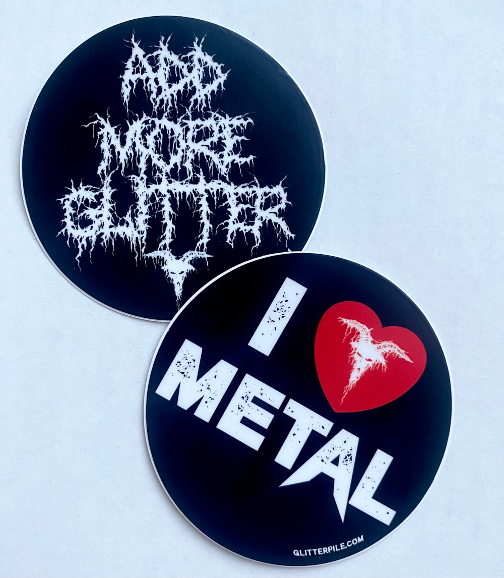 I HEART METAL STICKER