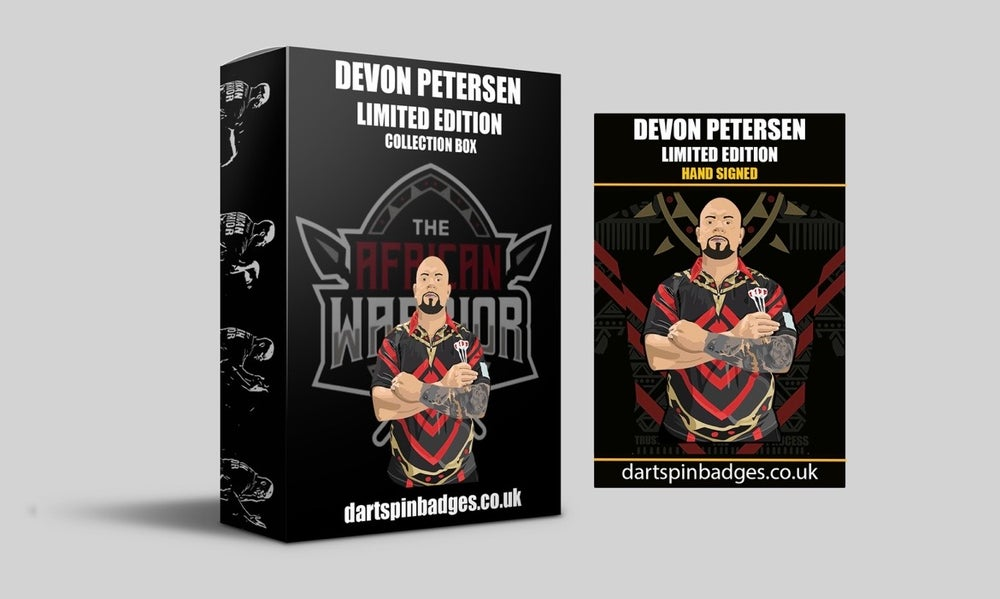 Devon Petersen Limited Edition Collection box & signed pin badge pre-order