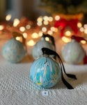 Marbled Ornaments - Peace