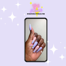 Image of Lavender and peach ombré set