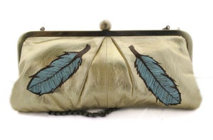 Image of The Golden Gander, Hand-Painted Vintage Clutch Purse
