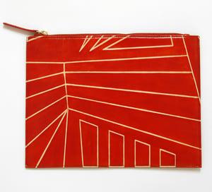 Image of DAZZLE ZIP CLUTCH orange