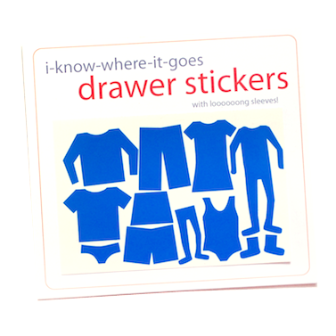 Image of Drawer Organizer Stickers - Girls with Long-Sleeved Shirt