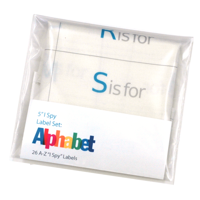 "Image of 5"" I Spy Labels: Alphabet Set"