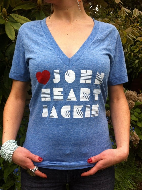 Image of 80's Heart T-Shirt | Deep-V Neck