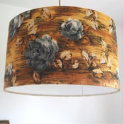 Image of Applause barkcloth lampshade