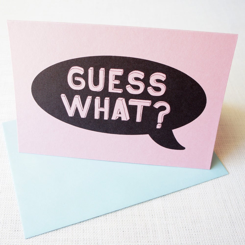 Image of Guess what card