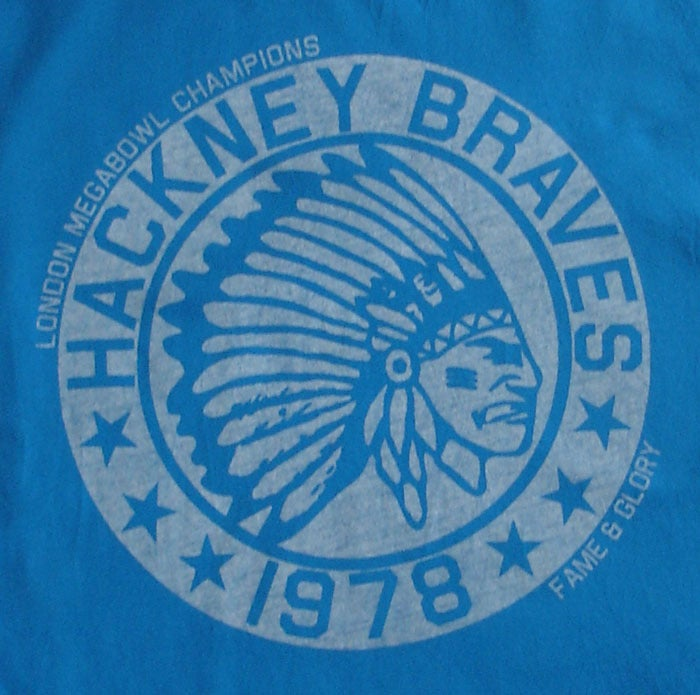 Image of Hackney Braves Vintage Tee (Blue)