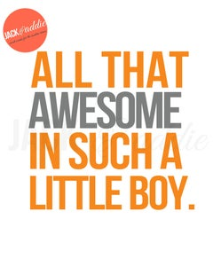 Image of {all that awesome} 8x10 PDF download poster print