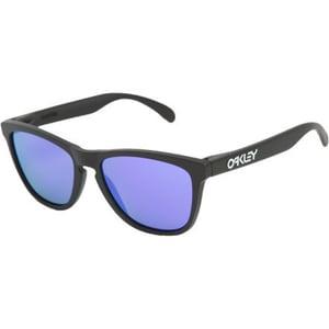 Image of Oakley Frogskins Matte Black/Violet Iridium Sunglasses