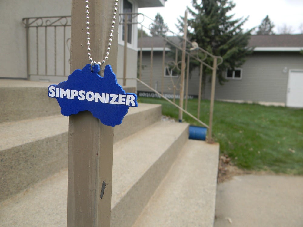 Image of Australia - Simpsonizer Necklace - Cody Simpson