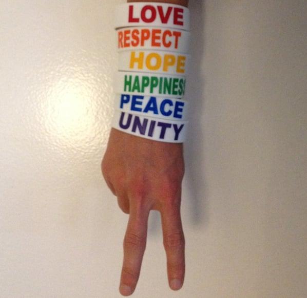 Image of White Rainbow Bracelets