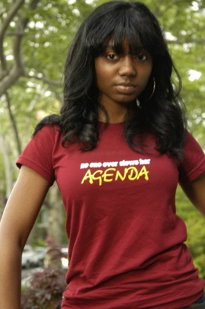 Image of No one Ever Slows Her Agenda Cranberry tee