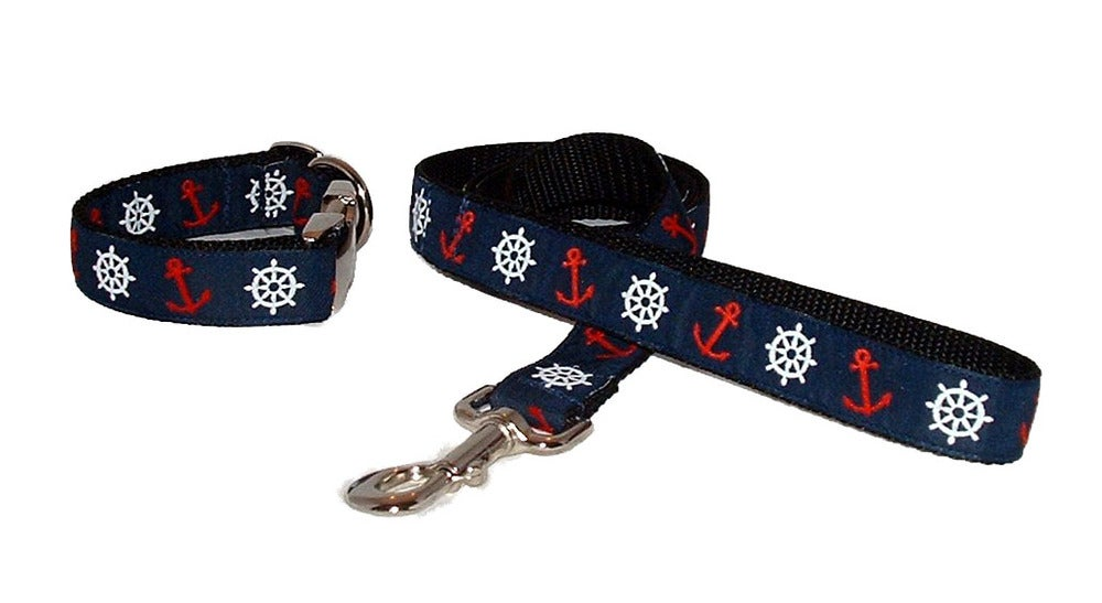 Anchor Away!! Dog Collar