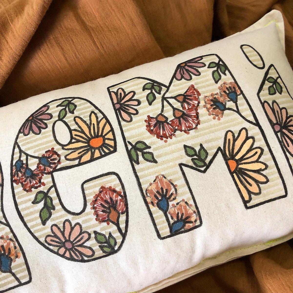Image of Vintage Australian floral personalised name cushion