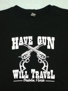 Image of HGWT Guns logo (black): Men's & Women's sizes.