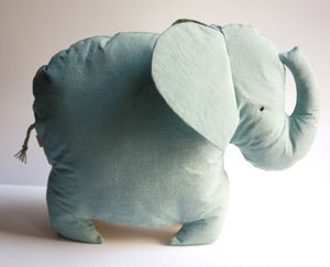 Image of Earth Friendly Toy Elephant / Vintage Baby Blue